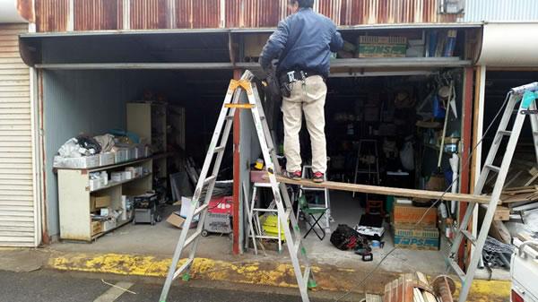 堺市ガレージシャッター老朽化による交換工事