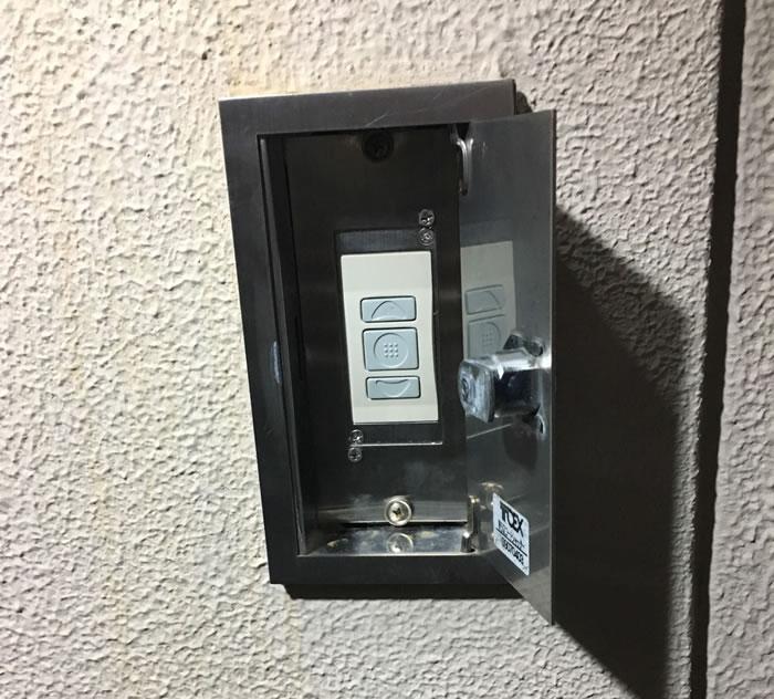 押しボタン交換シャッター工事02