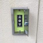 押しボタン交換シャッター工事01