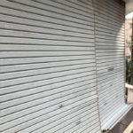 大阪市天王寺区K邸様中柱外れシャッター修理工事01
